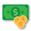 économie d'argent icone